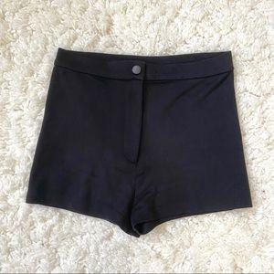 ASOS Black High-Waisted Shorts